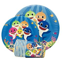 BABYSHARK BABY SHARK CUP PLATE TABLE COVER BANNER BALLOON PA