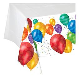 Creative Converting Balloon Blast Plastic Table Cover with B