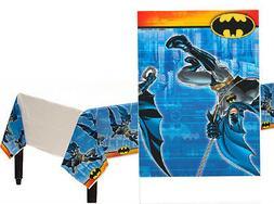 Batman Comic Superhero Plastic Table Cover Child's Birthday