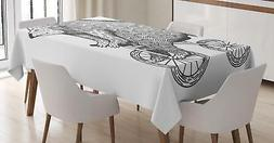 Bicycle Tablecloth by Ambesonne Rectangular Table Cover Home
