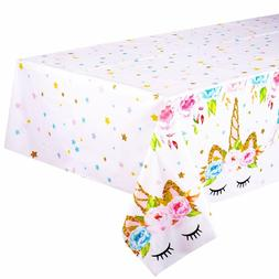 Birthday Party Tablecloth Unicorn Plastic Tablecloths Table