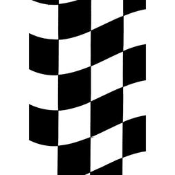 """Black Checkered Plastic Table Cover 54"""" X 108"""" Sold As 1 Eac"""