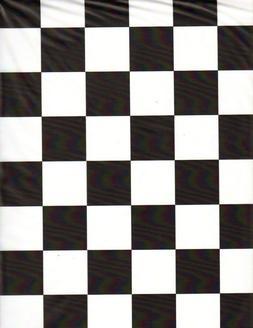Black & White Checker table cover tablecloth rectangular pla