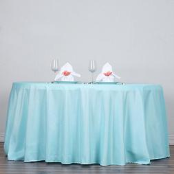 BLUE 120 Inch ROUND TABLECLOTH Wedding Decorations Party Tab
