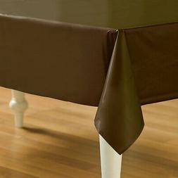 Brown Plastic Table Cover - Rectangle