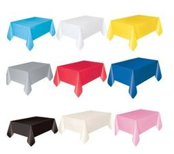 """54"""" x 108"""" Tablecloth Rectangle Plastic Party Color Table Co"""