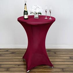Efavormart Burgundy Wholesale Stretchy Spandex Tablecover Fo