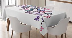 Butterflies Decoration Tablecloth by Ambesonne, Many Differe