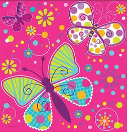butterfly sparkle plastic tablecover border
