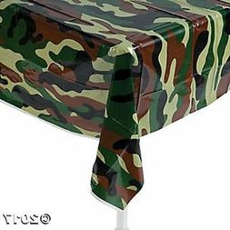 Fun Express Camouflage Plastic Tablecover Camo Tablecloth -