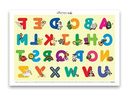 Carriella 60 Count ABC Disposable Placemats for Children Sti
