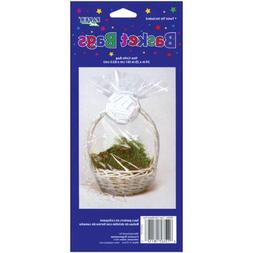"Cellophane Basket Bag 24""X25""-Clear"