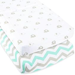 Cuddly Cubs Baby Changing Table Pad Cover Set For Boy & Girl
