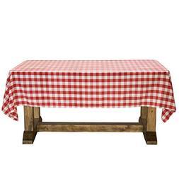 "Lann's Linens 60"" x 126"" Premium Checkered Tablecloth - Rect"