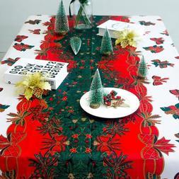 Christmas Party <font><b>Fabric</b></font> Rectangular Table