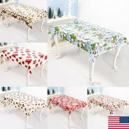 Christmas Table Cloth Rectangle Disposable Table Covers Runn