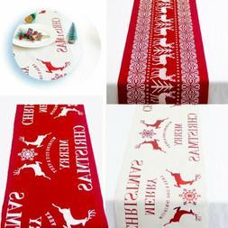 Christmas Snowflake Reindeer Elk Long Table Runner Table Cov
