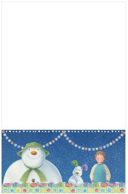 Christmas Snowman and Snowdog Party Skirt Tableware Plastic