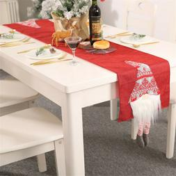 Christmas Table Runner Vintage Table Cover Decoration Home P