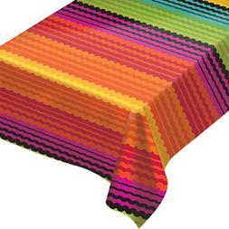 Amscan Cinco De Mayo Fiesta Flannel-Backed Vinyl Table Cover
