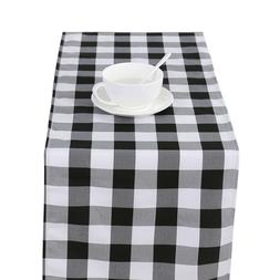 classic checked table runner plaid tablerunner table