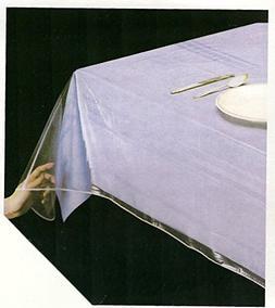 "Clear Heavy Duty Vinyl Tablecloth Protector, Oblong 52"" X 70"