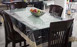 Heat Resistant,Easy Clean Waterproof Plastic Tablecloth Cove