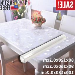 Clear PVC Table Cover Crystal Plate Mat Protector Pad Desk W