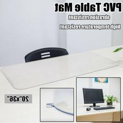 Clear PVC Table Cover Mat Protector Non-Slip Office Home Com