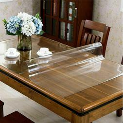 Clear PVC Table Cover Table Mat Protector Non-Slip Desk Pad