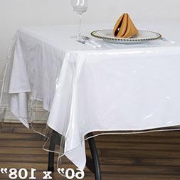 BalsaCircle 60-Inch x 108-Inch Clear Rectangular Plastic Vin