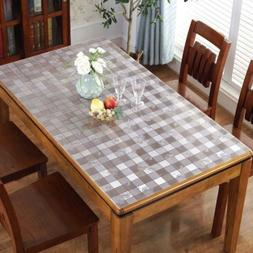 Clear Soft Glass PVC Tablecloths Dinning Table Cover Protect