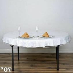 Clear Vinyl Tablecloth Durable Plastic Table Cover Home Spil
