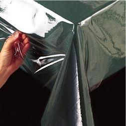 Clear Vinyl Tablecloth Heavy Duty Plastic Table Cover Spills