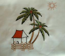 COCONUT TREE Rectangular Dining Table cover Beige Tablecloth