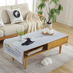 coffee table cover towel rectangular table cloth