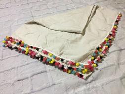 ColorBird Stitching Tassel Tablecloth Heavy Weight Cotton Li