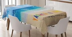 Colorful Birthday Tablecloth Ambesonne 3 Sizes Rectangular T