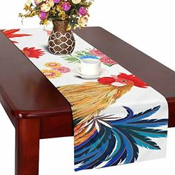 colorful lovely roosters flowers kitchen