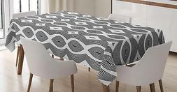 Contemporary Tablecloth Ambesonne 3 Sizes Rectangular Table