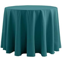 Ultimate Textile Cotton-feel 60-Inch Round Tablecloth Teal