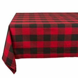 DII Cotton Buffalo Check Plaid Rectangle Tablecloth for Fami