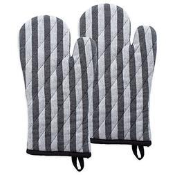DII Cotton Heat Resistant Kitchen Oven Mitts Set Farmhouse C