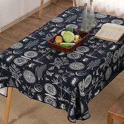 Cotton and linen table cloth thick cotton canvas restaurants