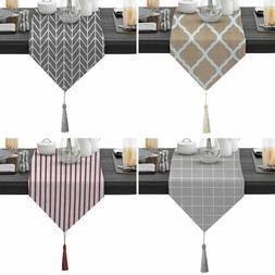 Cotton Linen Table Runner Tassels Tablecloth TV Cabinet Tabl