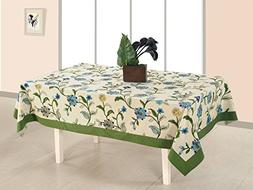 Cotton Printed Table Cloth Cover 12 Seater Rectangle Table C