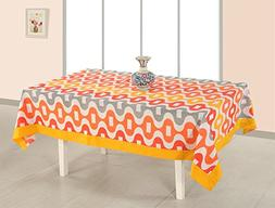 ShalinIndia Cotton Printed Table Cloth Cover 6 Seater Rectan