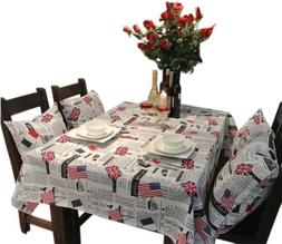 Panda Superstore  Country Style Linen Tablecloths/Table Clot