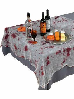 Amscan Creepy Halloween Party Bloody Gauze Table Cover Decor