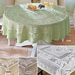 Crochet Lace Tablecloth 100% Cotton Handmade Dining Table Co